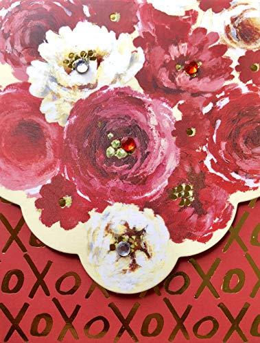 (Pooch & Sweetheart Embellished Mini Pocket Notepad, XOXO Roses, 70304)