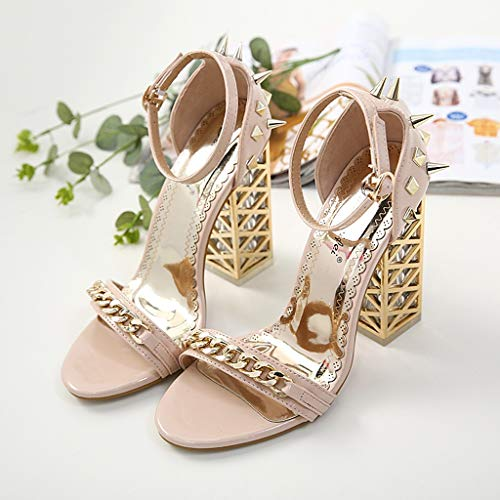 Women's Chunky Heel Sandals,Ladies Summer Ankle Straps High-Heels Open Toe Sandal by Sunskyi (Image #7)