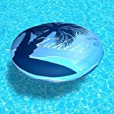 Blue Wave NT3014 Drift + Escape 72'' Circular Floating Island, Durable PVC Bladder, Quick-dry Polyester Fabric Cover, Dual Built-in Cup Holders