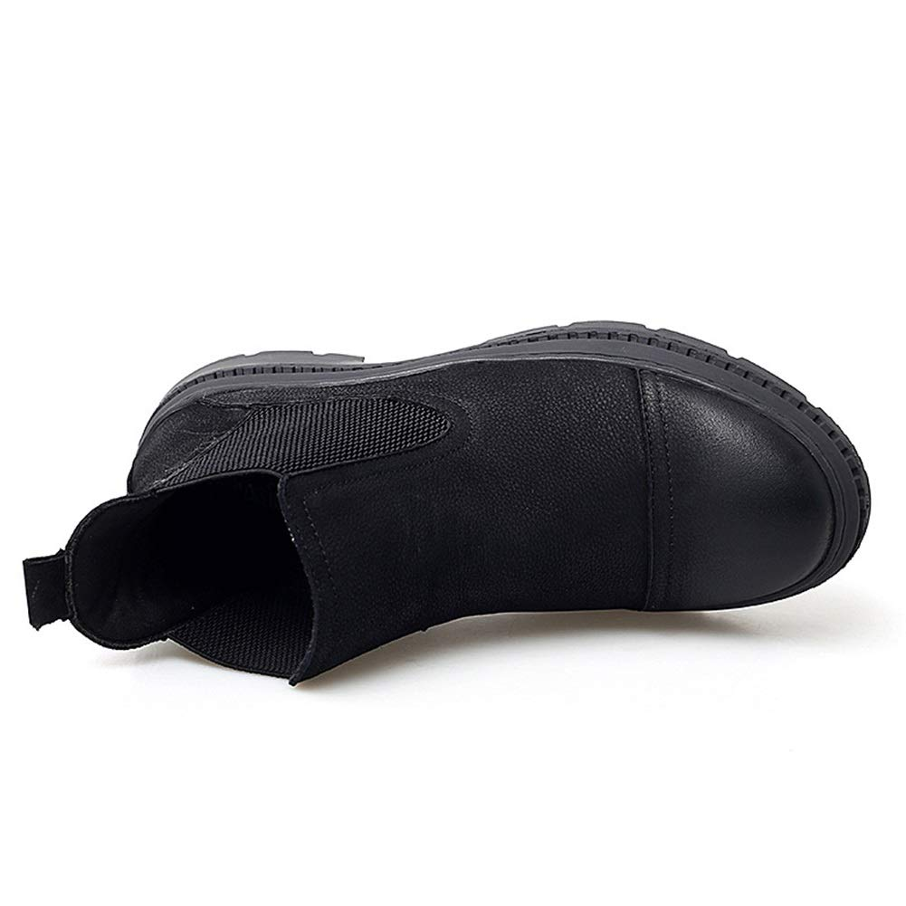 Exing Botas para Hombre, Botas Botas Botas Martin Caída Botines de Cuero Casuales de Moda de los nuevos Hombres de los Hombres Botines Retro (Color : UN, tamaño : 38) 0fd96e