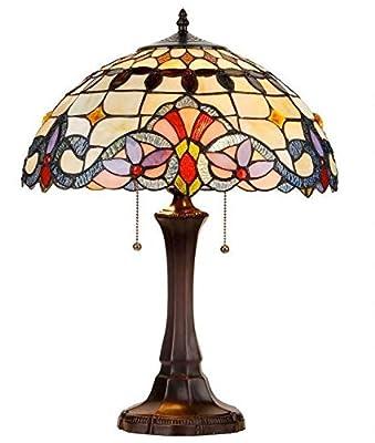 "Chloe Lighting CH33313VI16-TL2 ""Cooper"" Tiffany-Style Victorian 2 Light Table Lamp 16"" Shade"