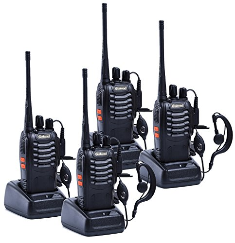 Galwad 4pcs GW-888S Walkie Talkie with Built in LED Torch (Pack of 4)