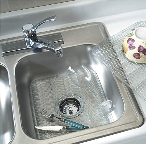 (Rubbermaid Sink Protector with built-in Microban Antimicrobial (Baby Blue/Clear) 12.48