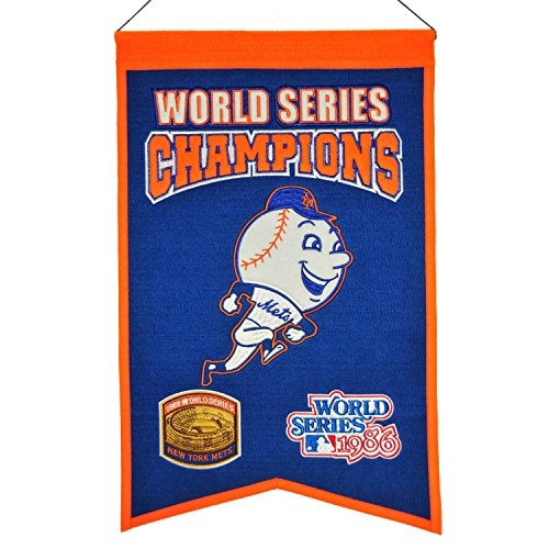 (Winning Streak MLB New York Mets WS Champions Banner, One Size)