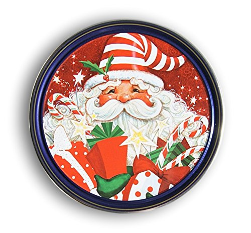 Christmas Holiday Butter Cookies Tin (Jolly Santa) (Santa Christmas Tin)