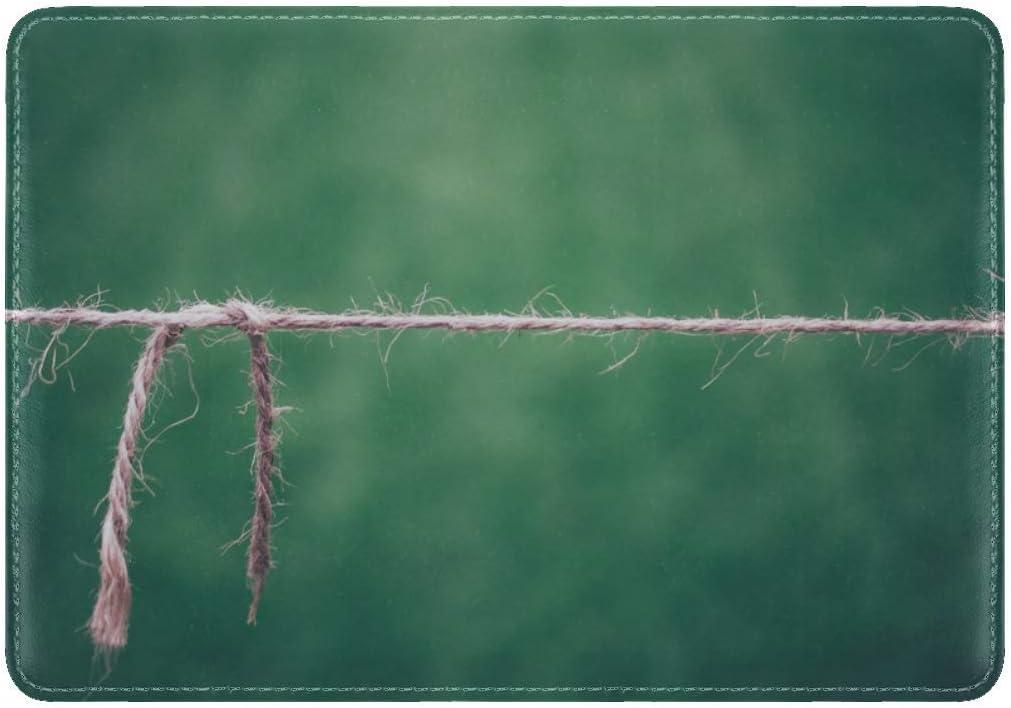 Rope Thread Breakage Leather Passport Holder Cover Case Travel One Pocket