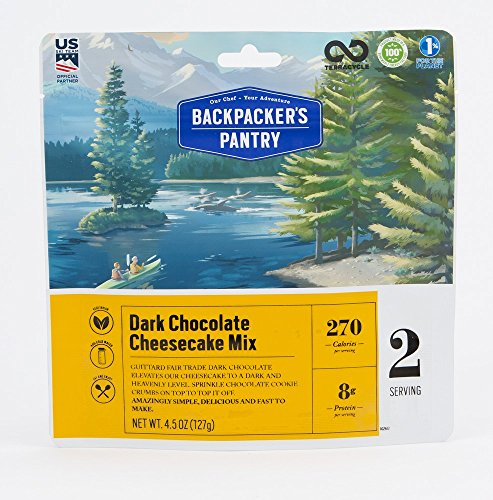 (Backpacker's Pantry Dark Chocolate Cheesecake, Two Serving Pouch, (Packaging May Vary)​ )
