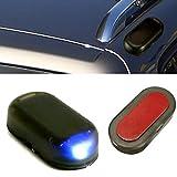 AUDEW Car Simulated Anti-theft Warning Flash Lights Alarm Blue LED Solar Power Lamp 1.2V