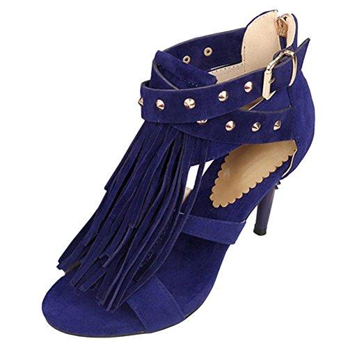 Mujer Sandalias Zapatos Blue Alto Coolcept Tacon PdtwHxq