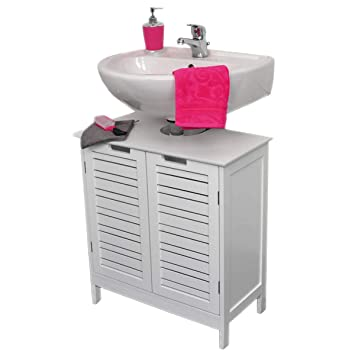 Sensational Evideco Non Pedestal Bath Under Sink Storage Vanity Cabinet Miami White Home Interior And Landscaping Palasignezvosmurscom