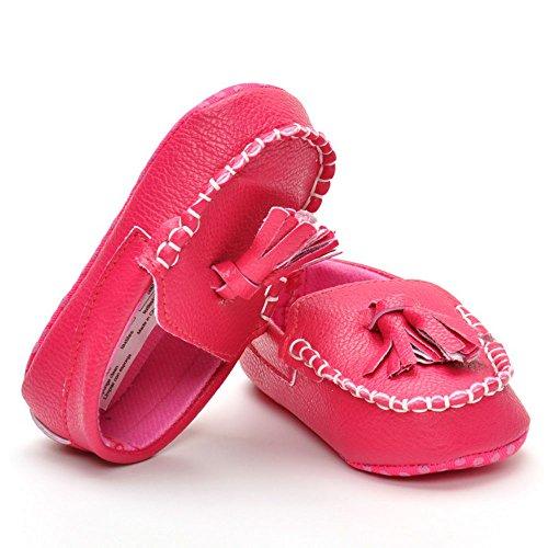 estamico bebé Boys 'Ante Moccasins, color, talla 3-6 meses Rojo - rojo