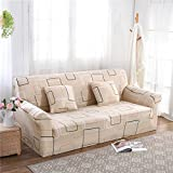 RUGAI-UE Sofa Slipcover sofa cover tight fitted elastic gasket cover three upholstered sofa full four living room,Two seater sofa long 145-185cm,free space