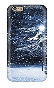 3681482K30313937 Tpu Case Skin Protector For Iphone 6 Amazing Park Bench In Winter Night With Nice Appearance