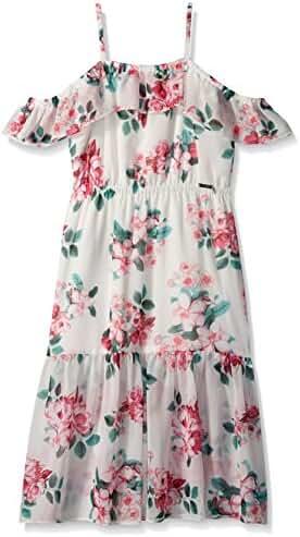 GUESS Big Girls' Sl Floral Midi Dress