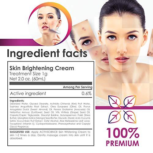 51g58NjNoML - ACTIVSCIENCE Whitening Cream - Powerful Skin Lightening Cream for Face & Body. Dark Spot, Melasma & Hyperpigmentation Treatment. 2 fl oz.