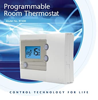 51g58WpI kL._SX342_ salus rt500 programmable room thermostat wired amazon co uk salus rt300rf wiring diagram at n-0.co