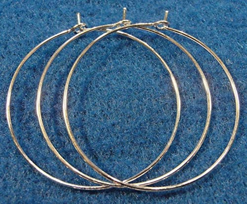 Earrings Hoop Nfl - 100Pcs. Wholesale Silver-Plated 1'' /25mm Earring Hoops Wine Glass Tibetan Q0668 Crafting Key Chain Bracelet Necklace Jewelry Accessories Pendants