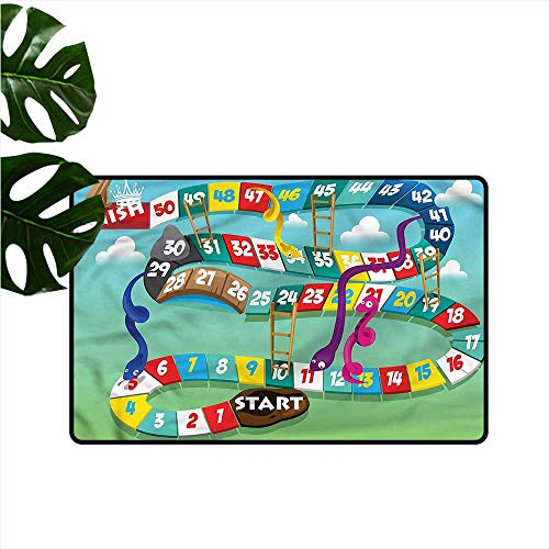 Welcome Door mat Board Game Swirled Snakes Ladders Anti-Fading W35 - Matboard Decorative