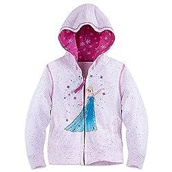 Disney Girls Elsa Hoodie - Frozen Size 2 White