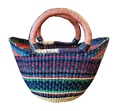 Basket Weaver Tote (Mini Shopper Basket Ghana 9-12