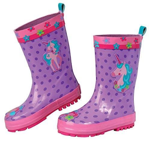 Stephen Joseph Girls' Rain Boots, Unicorn, 7