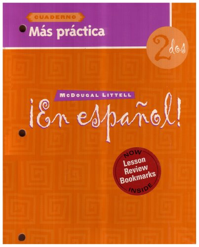 En Espanol: Level 2 Mas Practica Cuaderno with Lesson Review Bookmarks (Spanish Edition)