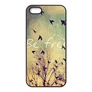 Be Free Birds Quote Protective Rubber Back Fits Cover Case for iPhone 5c 5c