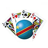 Congo National Flag Soccer Football Poker Playing Card Tabletop Board Game Gift