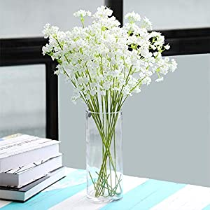 Nadalan 12Pcs Baby Breath Artificial Flowers Fake Gypsophila Plants Bouquets for Wedding Home DIY Décor 11
