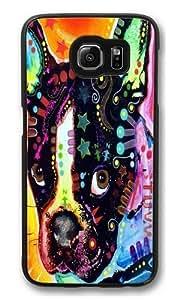 french bulldog Polycarbonate Hard Case Cover for Samsung S6/Samsung Galaxy S6 Black Kimberly Kurzendoerfer