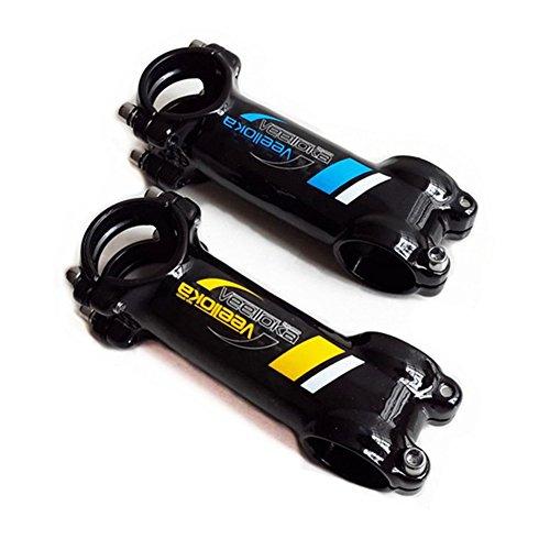 Generic Mountain Bike Handlebar Stem Cycling Bicycle Bike Carbon Fiber (Black&Yellow, 100x31.8mm)