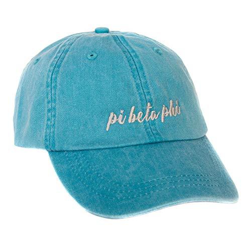 Desert Cactus Pi Beta Phi Sorority (N) Sorority Baseball Hat Cap Cursive Name Font Pi Phi (Bright Blue)