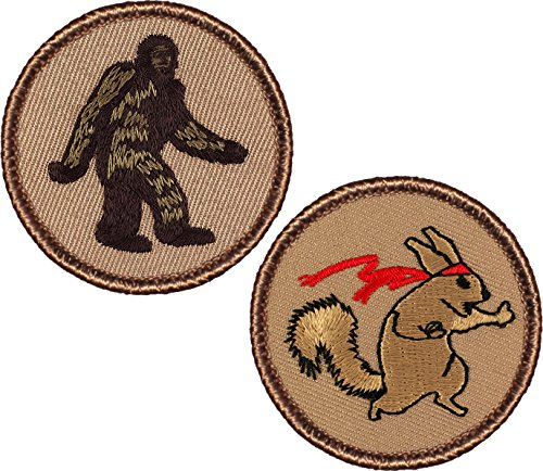 Bundle - 2 Items - Bigfoot Patch & Ninja Squirrel Patch - 2