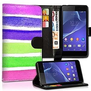 Wallet Wicostar–Funda Case Funda Carcasa diseño Funda para Samsung Galaxy S5Mini SM–G800–Diseño Flip mvd49