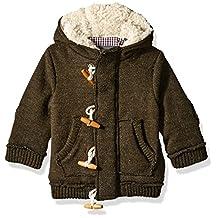 Ben Sherman baby-boys Baby Sweater Knit Fleece Hooded Jacket
