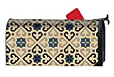 Verna Christopher Colorful Tribal Print Printed Mailbox Covers Magnetic Mailbox Makeover