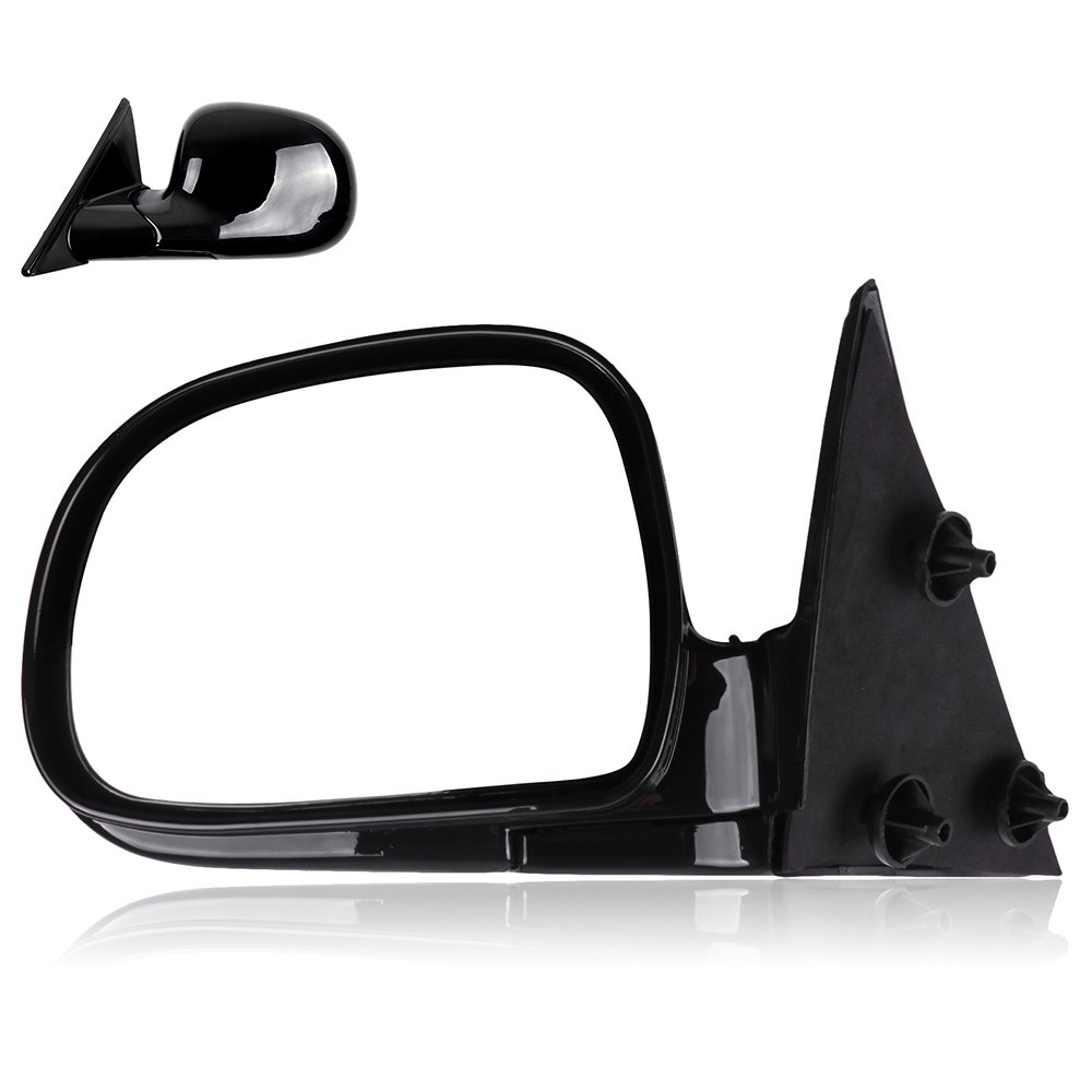 SCITOO Left Manual Foldable Black Side View Mirrors fit 94-98 Chevy Blazer S10 94-98 GMC Jimmy S-15 Sonoma 96-98 Isuzu Hombre 96-98 Olds Bravada (Driver Side)