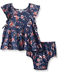 Baby Girls Floral Print Ruffle Dress