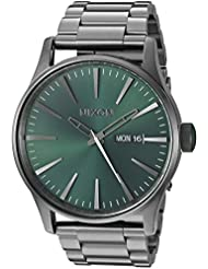 Nixon Mens Sentry SS Quartz Metal and Stainless Steel Watch, Color:Grey (Model: A3562458-00)