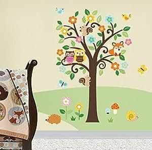 Charming Woodland Giant Peel & Stick Wall Art Sticker Decals by CherryCreek Decals