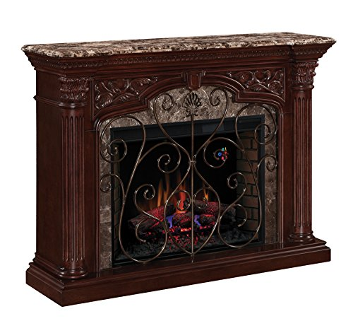 Classic Flame Astoria Infrared Electric Fireplace Mantel Package - 33WM0194-C232 (Fireplace Infrared Electric Classic Flame)