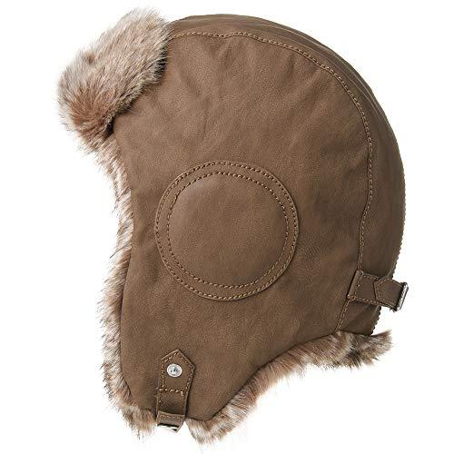 Mens Womens Waterproof Faux Fur Hunting Mad Bomber Trapper Flaps Winter Pilot Cap Ushanka Russian Hat Tan (Mad Bomber Hats For Women)