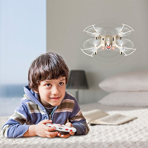 Newest Syma X20 Mini Pocket Drone Headless Mode 2.4Ghz Nano LED RC Quadcopter Altitude Hold Gold