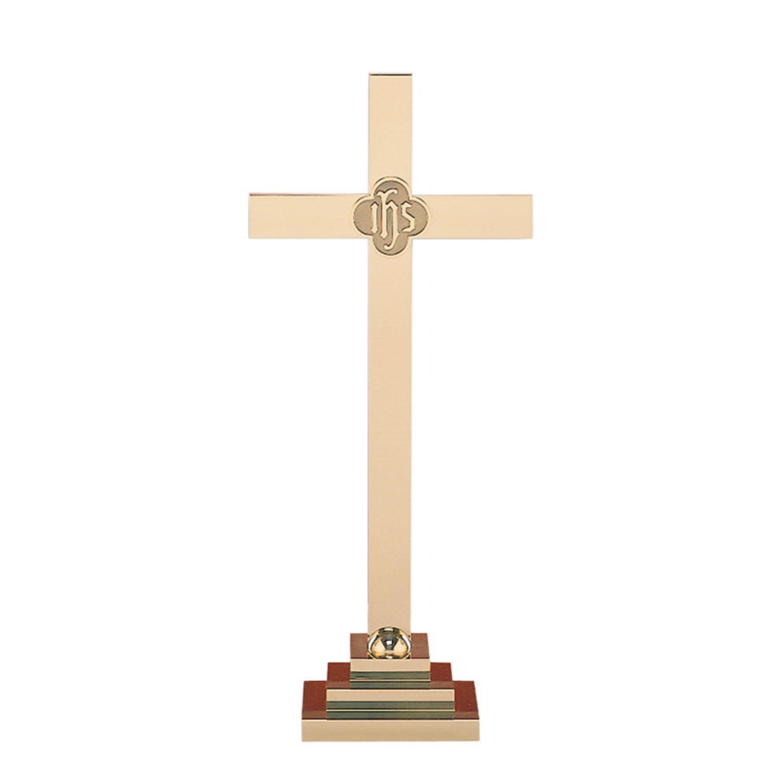 Christian Brands Church Supply SB150-30 30 in. Altar Cross & IHS