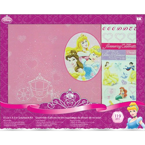 Disney(R) 8.5 Inch x8.5 Inch Postbound Album Scrapbook Kit - Princess