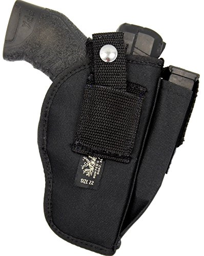(USA MADE Belt Slide and Clip-On Ambidextrous Holster for S&W M&P 380 SHIELD EZ, 3.75