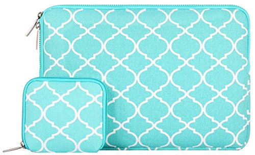 Mosiso-Quatrefoil-Style-Canvas-Fabric-Laptop-Sleeve-Bag-Cover-for-13-133-Inch-MacBook-Pro-MacBook-Air-Notebook-with-Small-Case-Hot-Blue