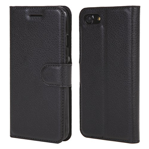 寛容ふさわしいラッドヤードキップリングiPhone7 ケース 手帳型 スタンド機能付き シンプル マグネット 耐衝撃 カバー 財布型 カード収納 スマートフォンケース 保護ケース PUレザー Premium Spade ( プレミアムスペード ) (ブラック)