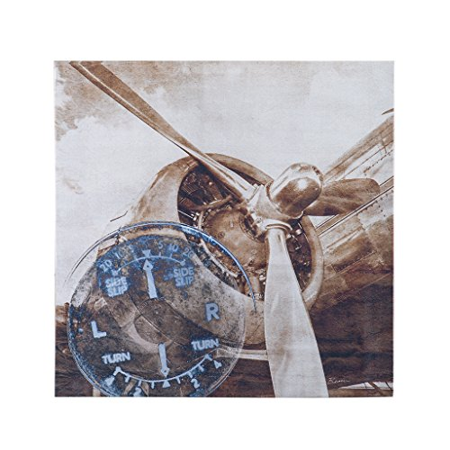Poster Art Aviation (History Of Aviation Ii  Abstract Canvas Wall Art 30X30, Industrial Wall Décor)