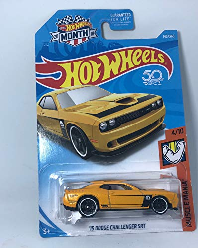 (Hot Wheels 50th Anniversary 2018 Muscle Mania '15 Dodge Challenger SRT [Yellow] 4/10 (143/365). )